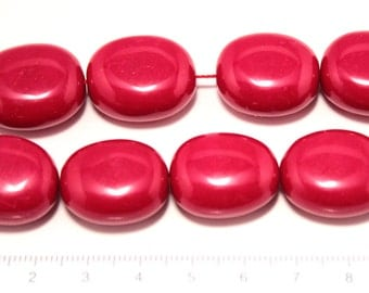 dyed coral stone big oval beads 1string/G-0054