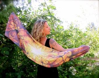 Ambrosia SILK SCARF by Autumn Skye ART