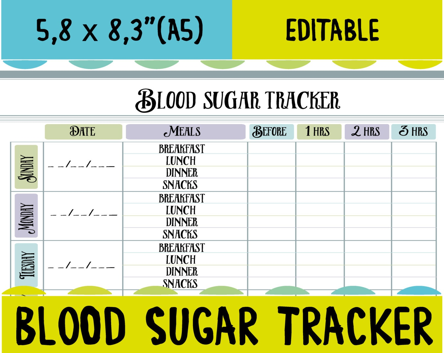 Diabetes Log Book Template | Cool Templates @ www.template-kid.com