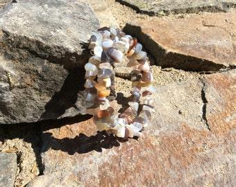 African Botswana Agate wrap bracelet