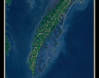 The Eastern Shore of Virginia Satellite Poster Map