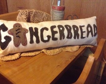 Gingerbread folkart pillow pattern