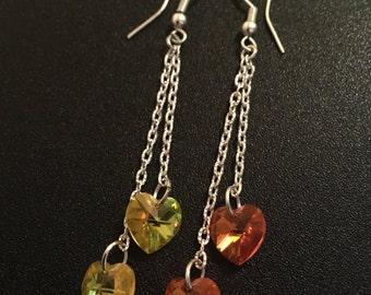 Heart SWAROVSKI earrings