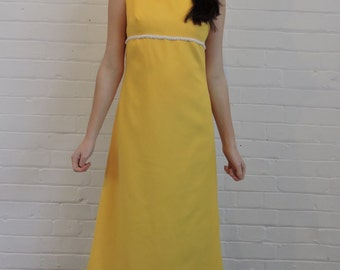 Vintage Yellow Maxi Dress