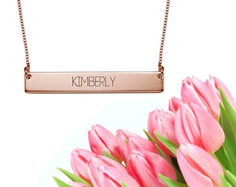 Bar Name Necklace (rose gold)
