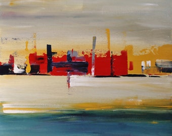 contemporary abstract skyline