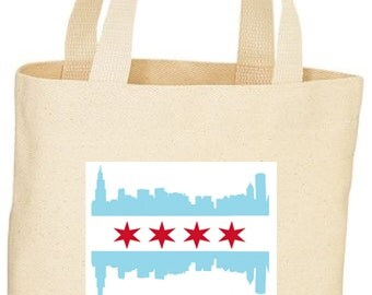 Chicago Flag Custom Tote/ market Bag