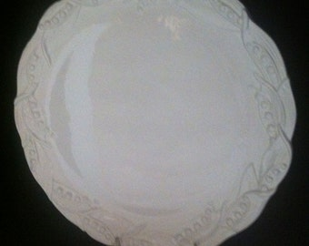 Tiffany & Co White/White Lily of the Valley Platter Italy