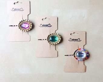 Embellished Bobby Pin - Various Gem Colors