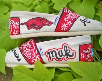 Arkansas Razorback Shoes