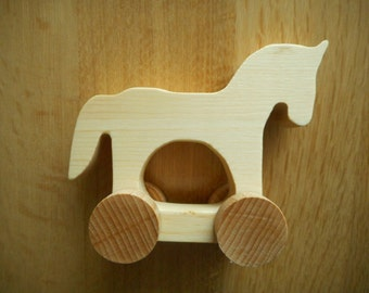 Wooden animals on wheels / Wooden Toys / Toys