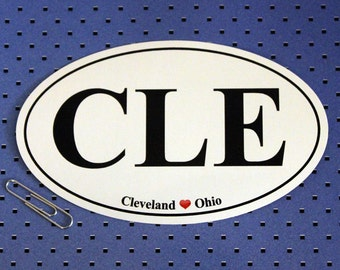 Cleveland, Ohio (CLE) Oval Bumper Sticker