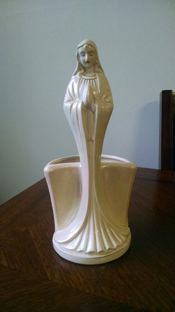 Vintage Napco Praying Mary Planter