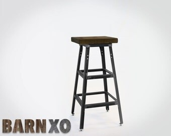 Reclaimed Bar Stool |Industrial Steel | Urban Look | + FAST SHIPPING +