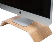 Wood Monitor Riser, Wood Monitor Stand, Computer Stand Handmade out of all wood. Bamboo, Desk Collection.