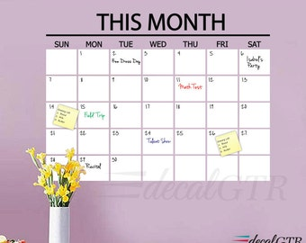 16x22 dry erase calendar month calendar wall decal white board dry erase wall