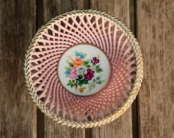 """Floral Bowl/Porcelain/5""""Wide/Chubu China/Cherry Exclusive Series/Candy Bowl/*FREE GIFT WRAP*"""