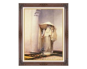 Canvas Wall Art John Singer Sargent Fumee d'Ambre Gris Framed Print Smoke of Ambergris - Sizes Small to Large - M00386