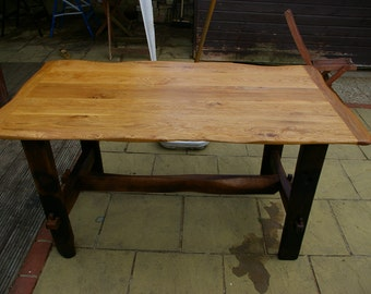 Homemade Rustic Reclaimed Solid Oak Dinner Table