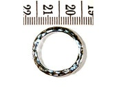 2 Hill Tribe Silver Hammered Ring Beads, 23mm diameter, Fair Trade, fine silver, jewellery making, silver beads