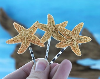Starfish Hair Pins / Beach Wedding Hair Accessories / Starfish Hair Pins