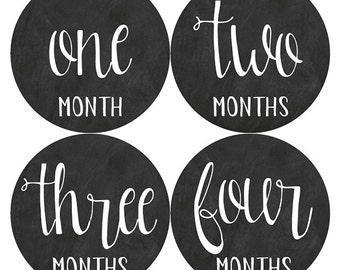 Chalkboard Monthly Baby Stickers, Baby Monthly Stickers, Chalkboard Stickers, Baby Boy, Baby Girl, Monthly 1-12