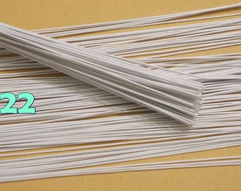 "100 Wire Stems--Gauge#22--(Length 12"" X 1 mm) Floral Wire Flower Stem Artificial, Artificial Stems, Floral Stem, White Wire Stems."
