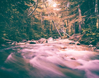 Long Exposure White Mountains Stream