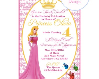 Princess Aurora - Sleeping Beauty Invitation