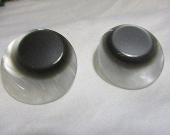 Funky Black and White Art Deco Earrings