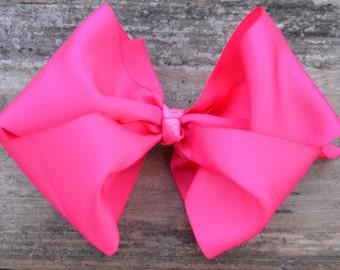 Large Pink Boutique Bow, Large White Boutique Bow, Big White Bow, Big Pink Bow, Big Hair Bow, Large Bow in White, Large bow in Pink