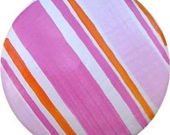Pink/Orange Striped Knob (Pack of 6)