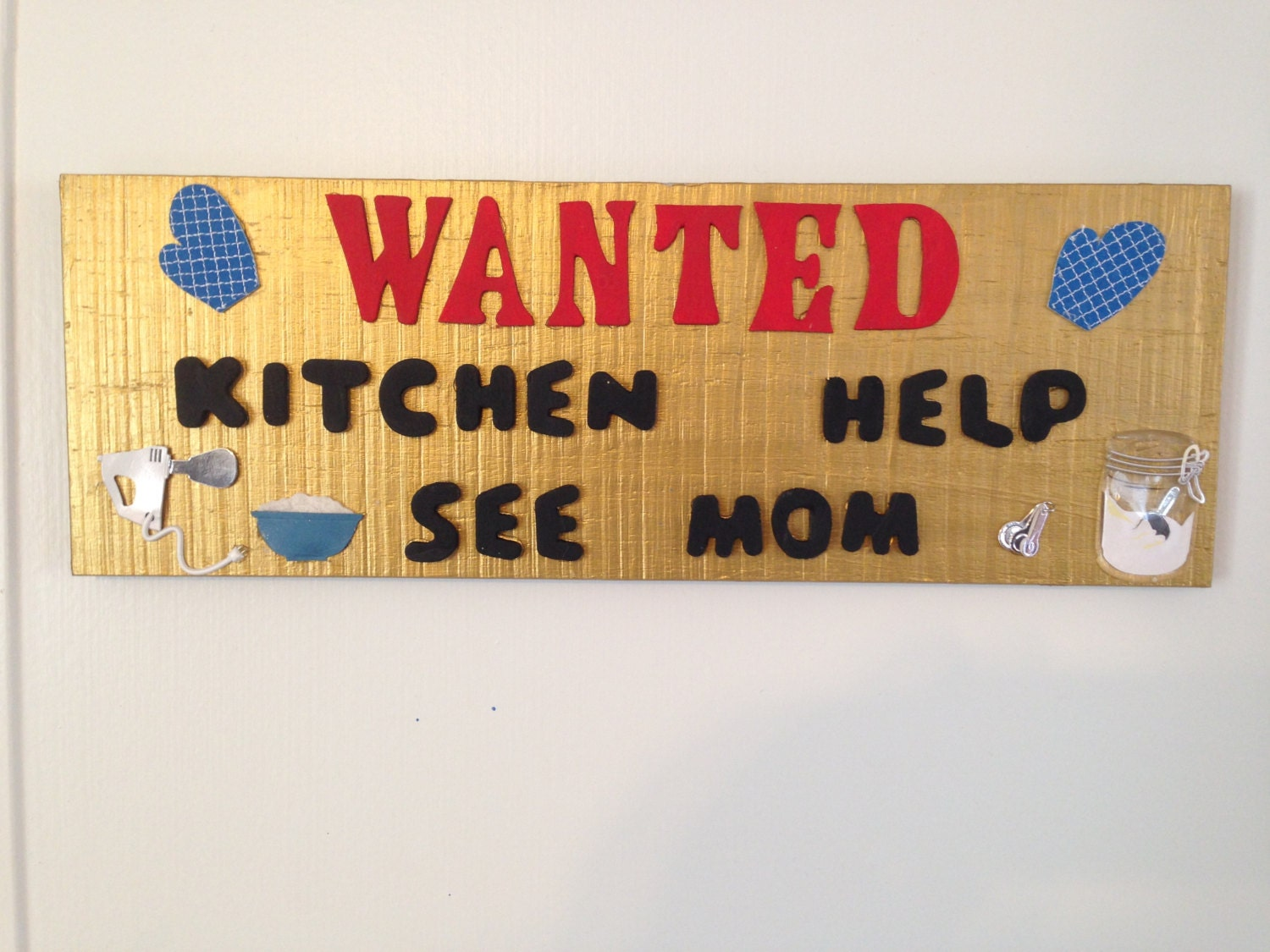 Wooden Sign Wanted Kitchen Help Reclaimed Pine Kitchen