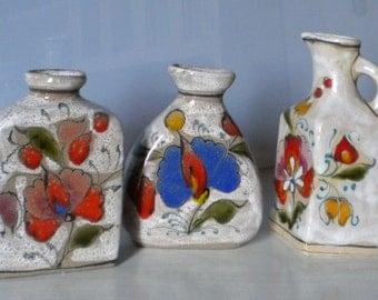 TRIS terracotta decorative vases