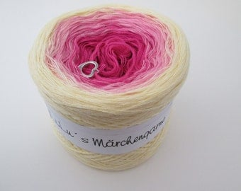 "Color gradient yarn 200 g = 760 m lacegarn ""Daisy"""