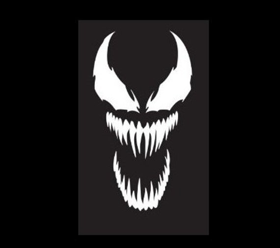 Venom Vinyl Decal Logo Marvel Villain By Jedivinyldesign