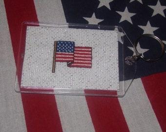 Cross Stitched Key Chain