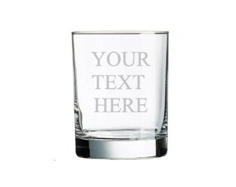Rocks glass, Whiskey Glass, Liquor Glass, ETCHED, use your own words! Your Text Here, Choose your font, Engraved, Personalized, dad