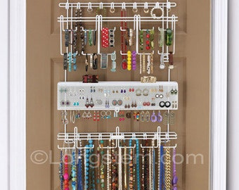 Longstem #5100 Over the Door Jewelry Organizer - Rated Best!