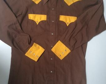 Vintage Western Colorblock M's Shirt