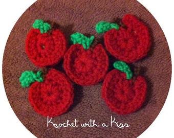 Crocheted Apple Hair clip