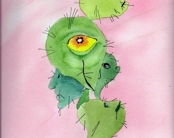 Talking Heads, can't we all just get together! watercolor, original art, fine art