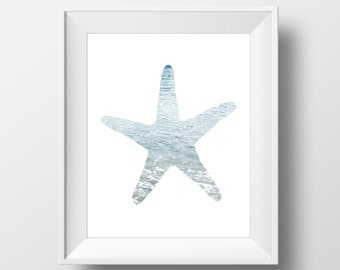 Ocean Starfish Wall Art, Photography Digital Print, Art Print, Instant Download