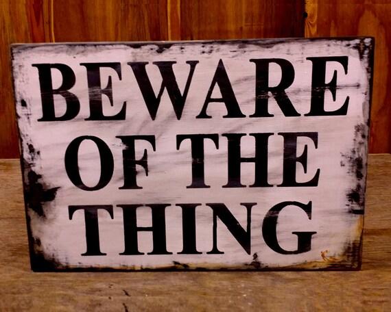 Halloween beware signs