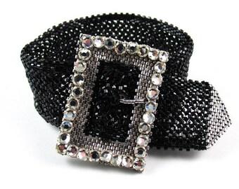 All Buckled Up Bracelet Kit - Black & Silver