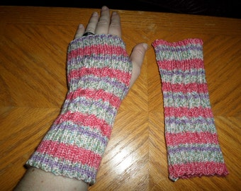 3-Strand Braid cable Fingerless Mittens