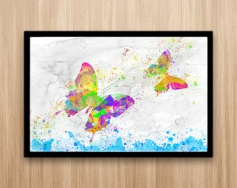 Butterflies Watercolor Art, Home Decor Watercolor, Watercolor Art, Watercolor Butterfly, Printable butterfly
