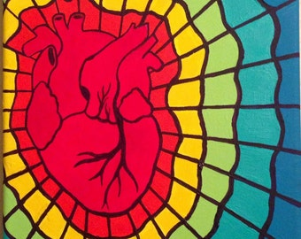 Rainbow heart web