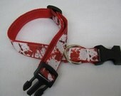 Blood Spatter Dog Collar - MULTIPLE SIZES AVAILABLE