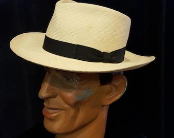 Original Mens Custom Made Panama by Paul's Hat Works IN San Francisco Size 7